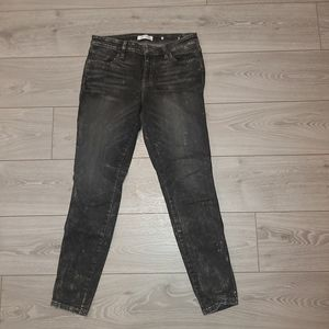 Guess blk distressed jeans